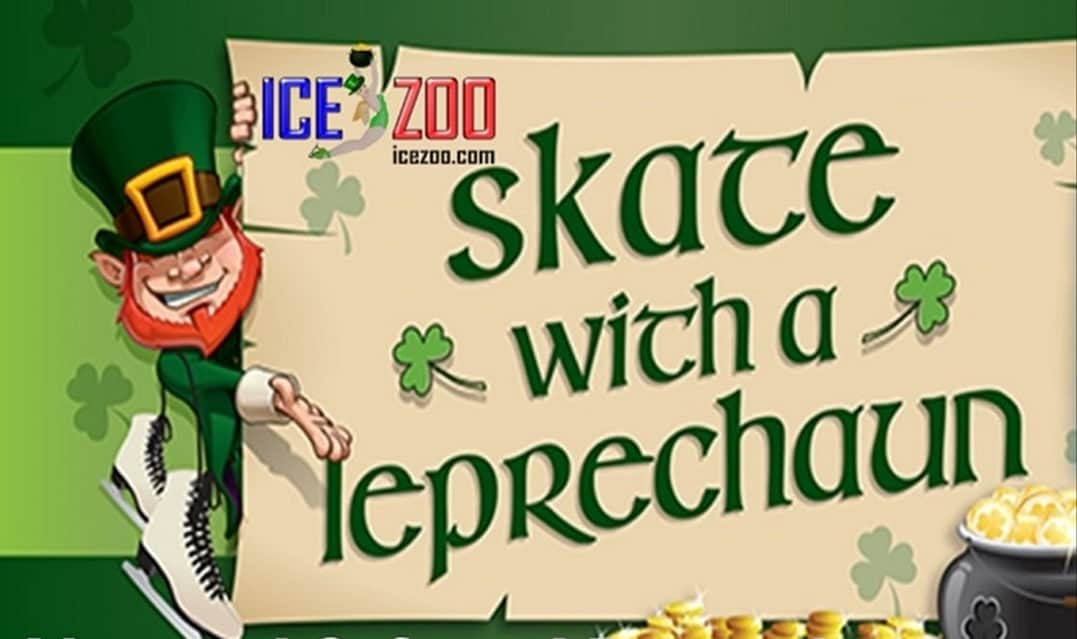 Skate with a Leprechaun for St Patrick's Day